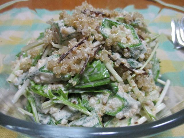 キヌアのグリーンサラダ②